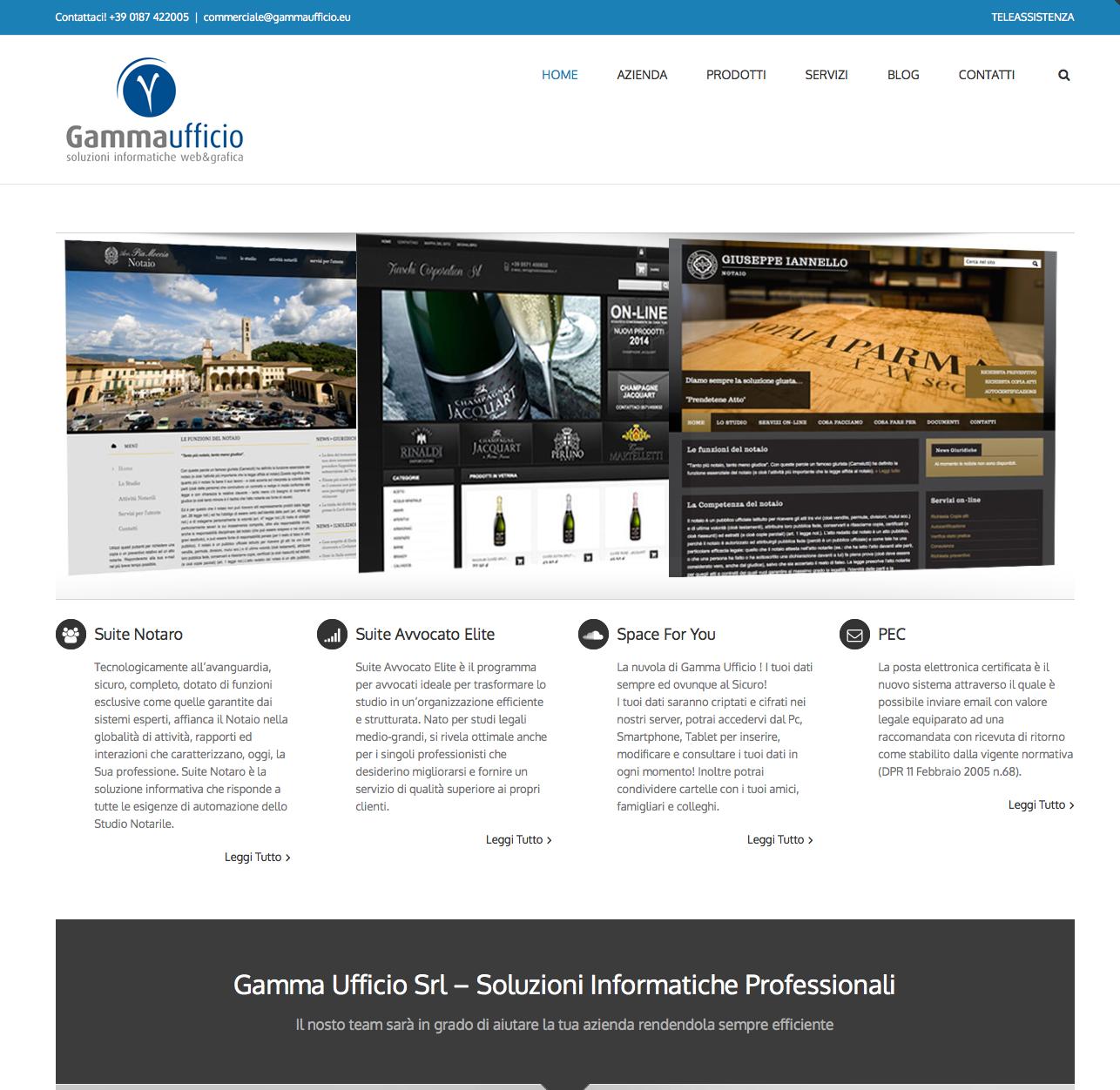 Nuova veste grafica per Gamma Ufficio srl